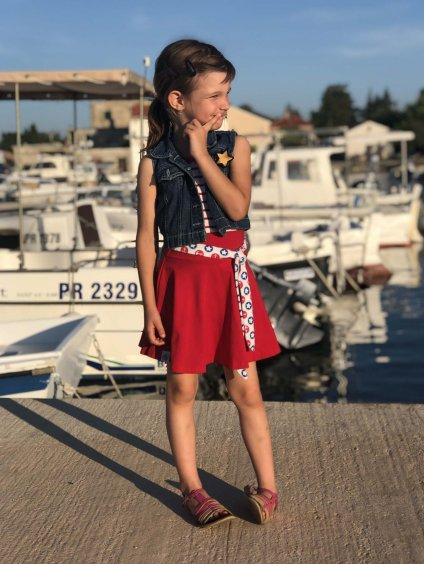 cervena kolova sukne namornicka