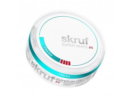 SKRUF SUPER WHITE, SLIM FRESH XTRA STRONG #4
