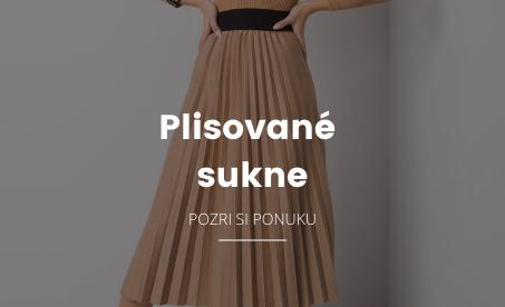 plisované dámske sukne