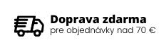 Doprava zdarmo pre objednávky nad 70 eur