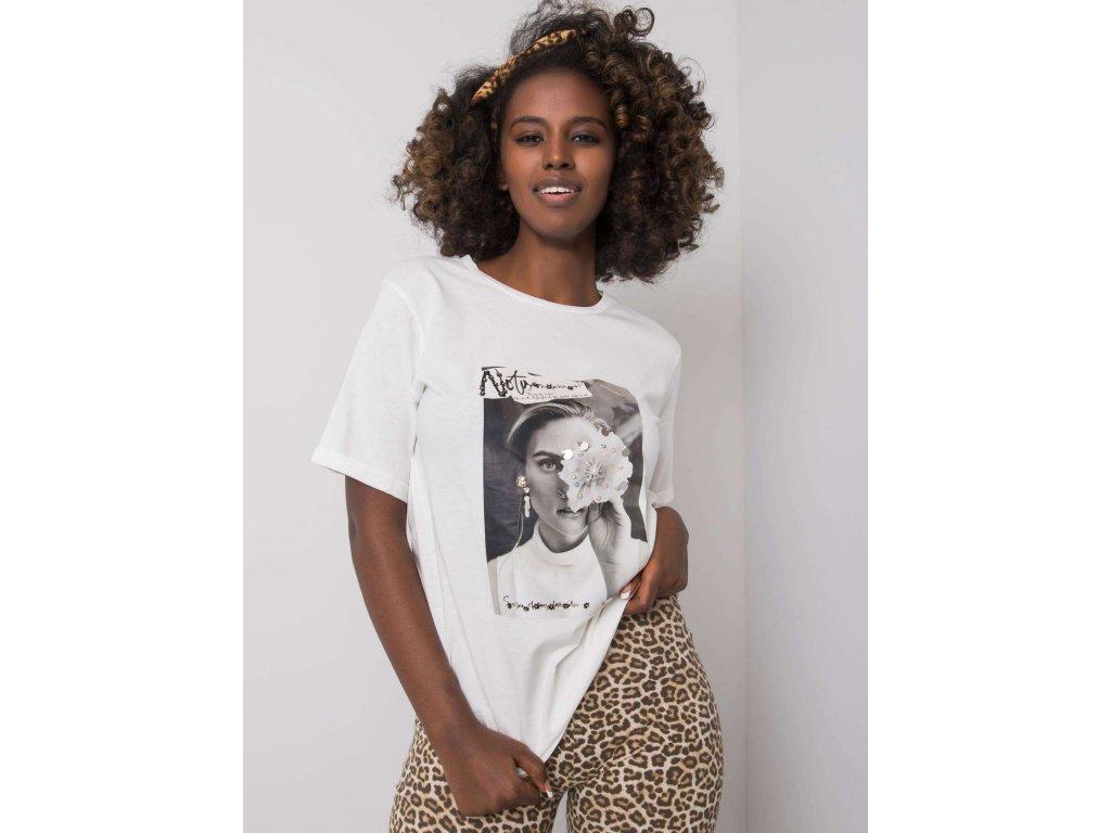 Dámske tričko s krátkym rukávom a aplikáciou Zuri