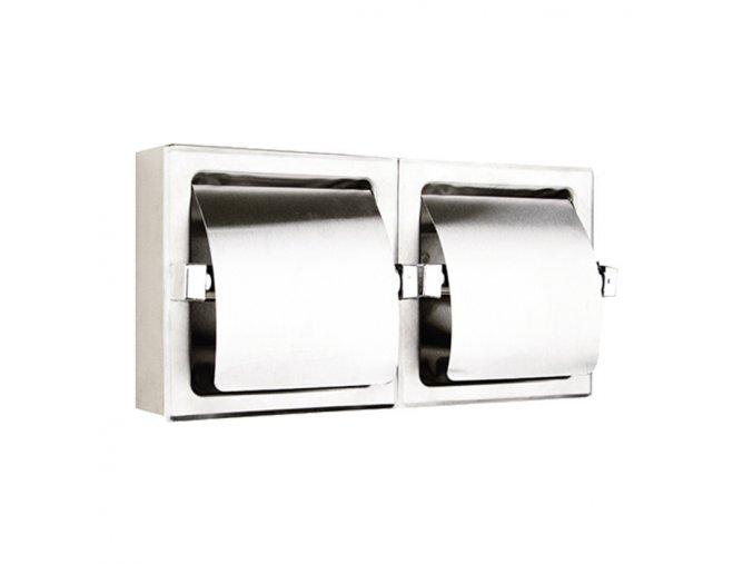 Dvojitý držák toaletního papíru WC-DR20001X