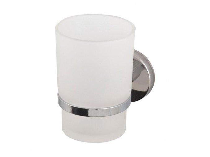 Nástěnný držák se skleněným pohárkem KD-P10001