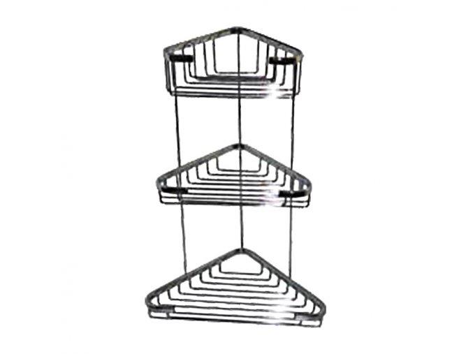 Rohová drátěná chromovaná polička DP-103022