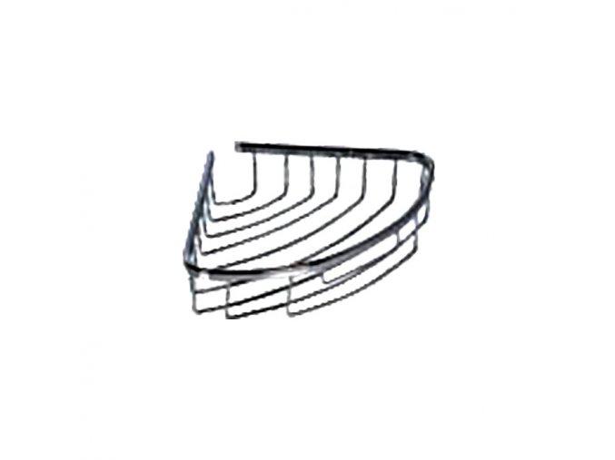 Rohová drátěná chromovaná polička DP-201018