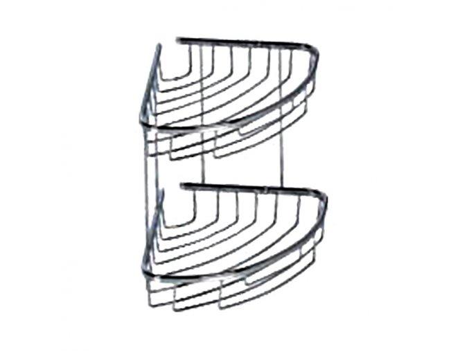 Rohová drátěná chromovaná polička DP-202022