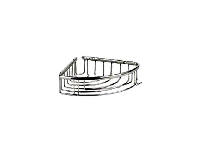Rohová drátěná chromovaná polička DP-301018