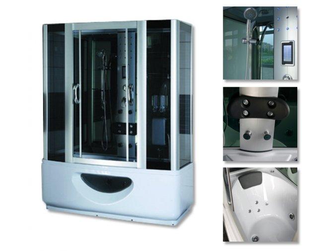 Sprchový box SANDRA s masážní vanou 165x85x220 - SAUNA