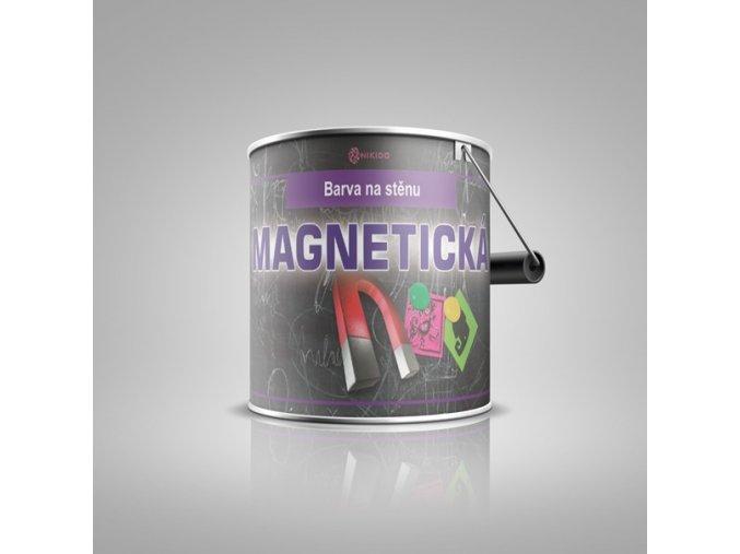 Magnetická a tabulová barva na stěnu NIKIDO MAGNETIC černá 0,75L