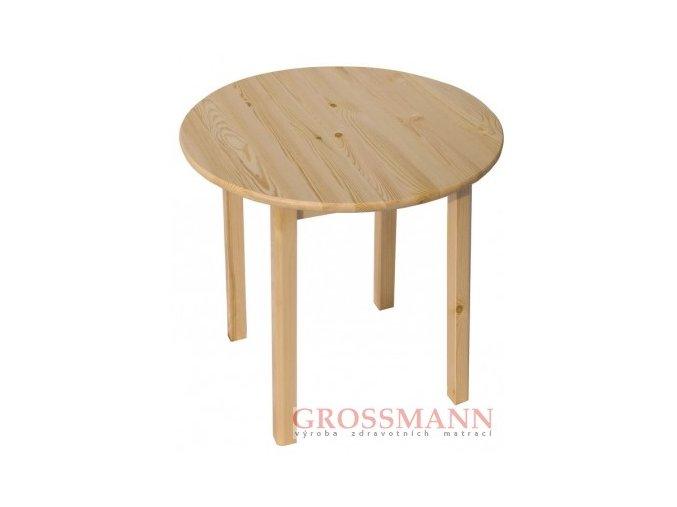 Grossmann Jídelní stůl kulatý masív borovice průměr 70 cm