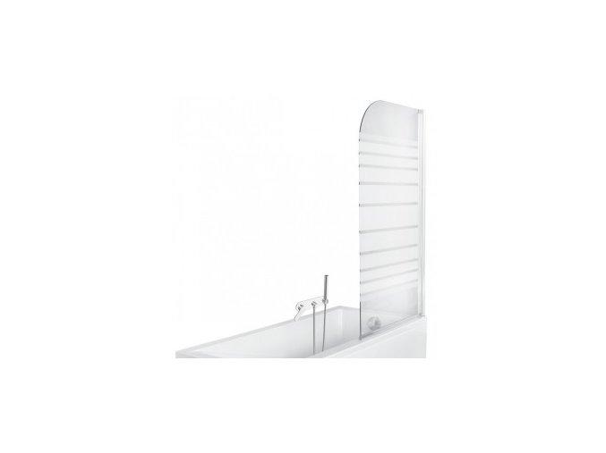 Vanová zástěna NIKIDO AMBITION 1 75x130 sklo pásky