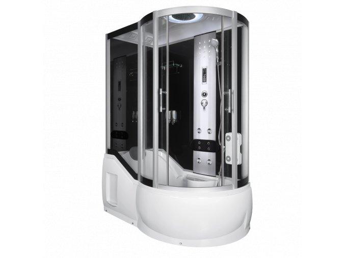 Sprchový a masážní box s vanou FANTASIE levá 150x85x217
