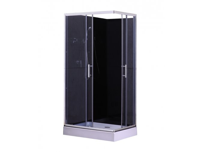 Sprchový box  LIVIE black 100x70