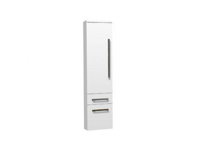 Koupelnová doplňková skříňka závěsná vysoká Plaza W V 32 P/L