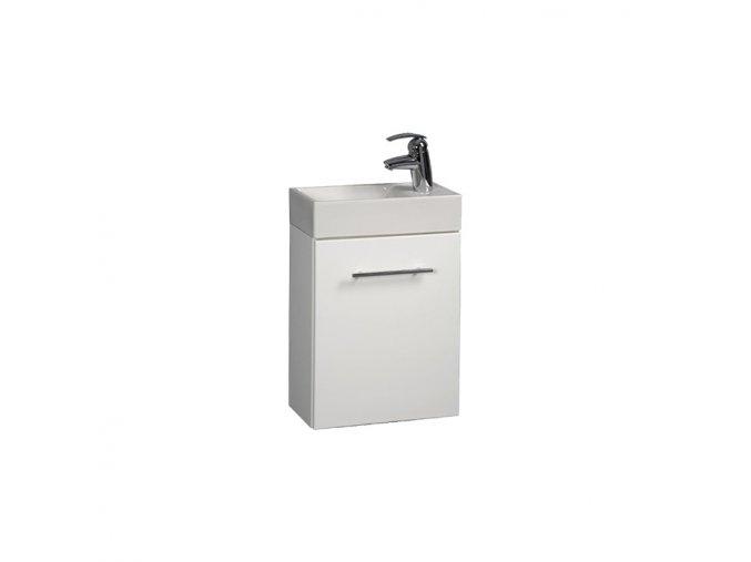 Koupelnová skříňka závěsná s umyvadlem z litého mramoru Darja 40