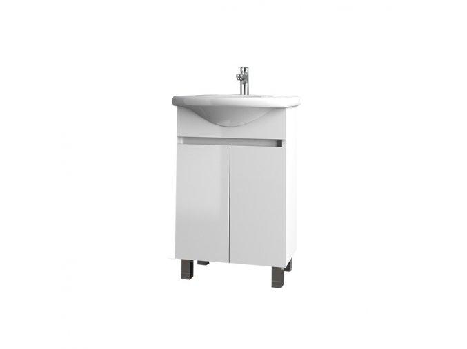 Koupelnová skříňka závěsná s keramickým umyvadlem Nova  55 ZV