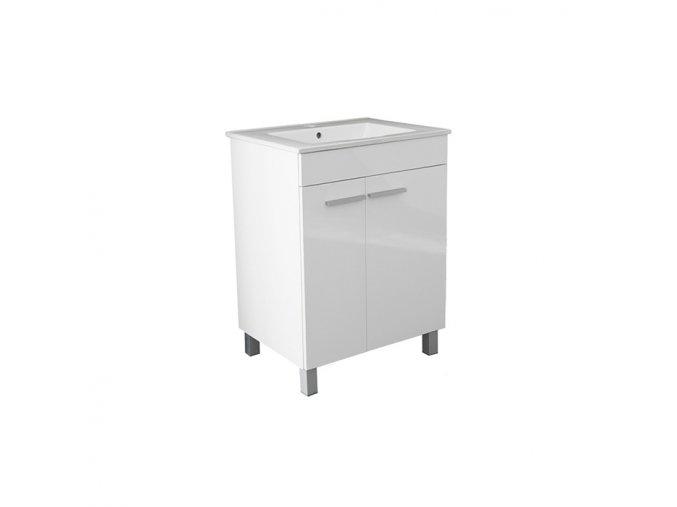 Koupelnová skříňka závěsná s keramickým umyvadlem Bolero 60