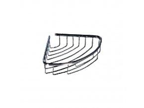 Rohová drátěná chromovaná polička DP-201022