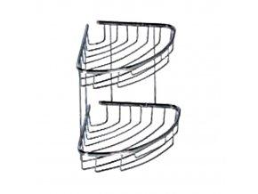 Rohová drátěná chromovaná polička DP-202018