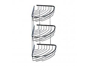 Rohová drátěná chromovaná polička DP-203022