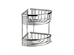 Rohová drátěná chromovaná polička DP-302018