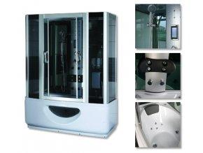 Sprchový box SANDRA s masážní vanou 145x85x220 - SAUNA