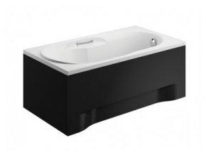 Boční krycí panel vany LUX černý