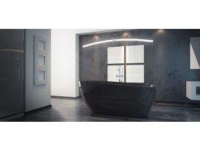 Volně stojící vana GOYA black 160x70