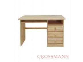 Grossmann Psací stůl masív borovice 3 šuplíky A