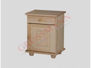 Grossmann Noční stolek masív borovice kombi