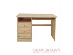 Grossmann Psací stůl masív borovice 3 šuplíky levý
