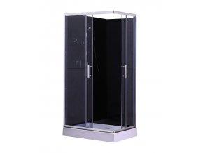 Sprchový box  LIVIE PLUS black 100x80