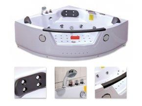 HydroMasážní vana TIGA 152x152x60
