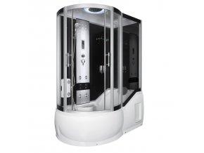 Sprchový a masážní box s vanou FANTASIE pravá 150x85x217