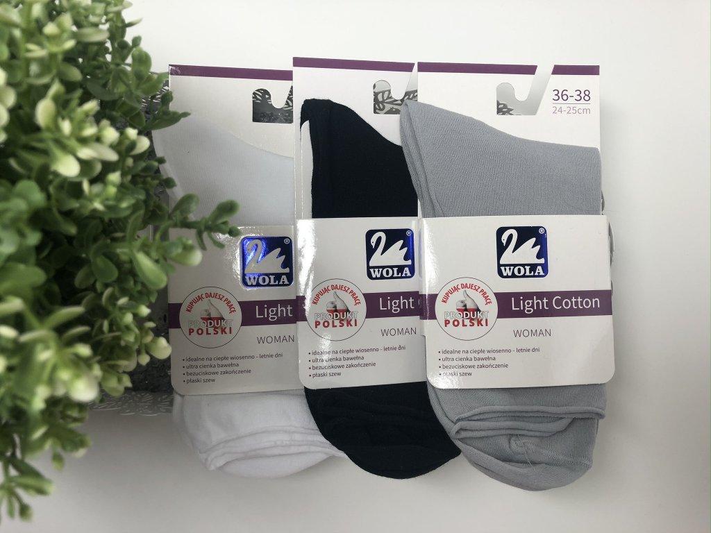 Dámské ponožky Wola (Barva Bílá, Velikost 39-41)