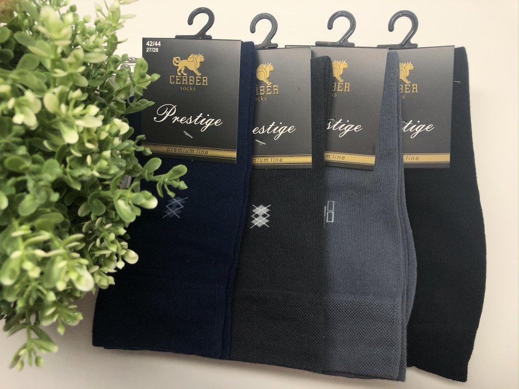 Pánské ponožky prestige (Barva Černá, Velikost 39-41)