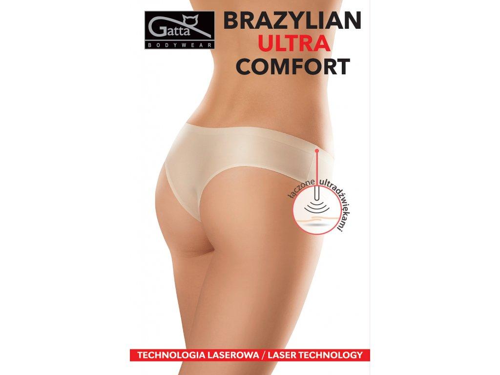 Dámské brazilské kalhotky Gatta (Barva Bílá, Velikost S)