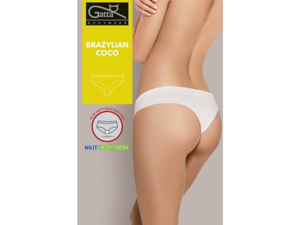 Dámské bezešvé brazilské kalhotky Gatta (Barva Bílá, Velikost S)