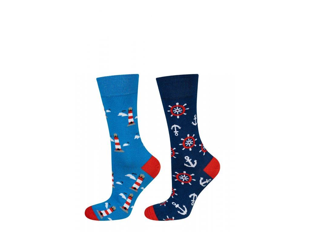 Pánské vzorované ponožky (Barva Šedá, Velikost 40-45)