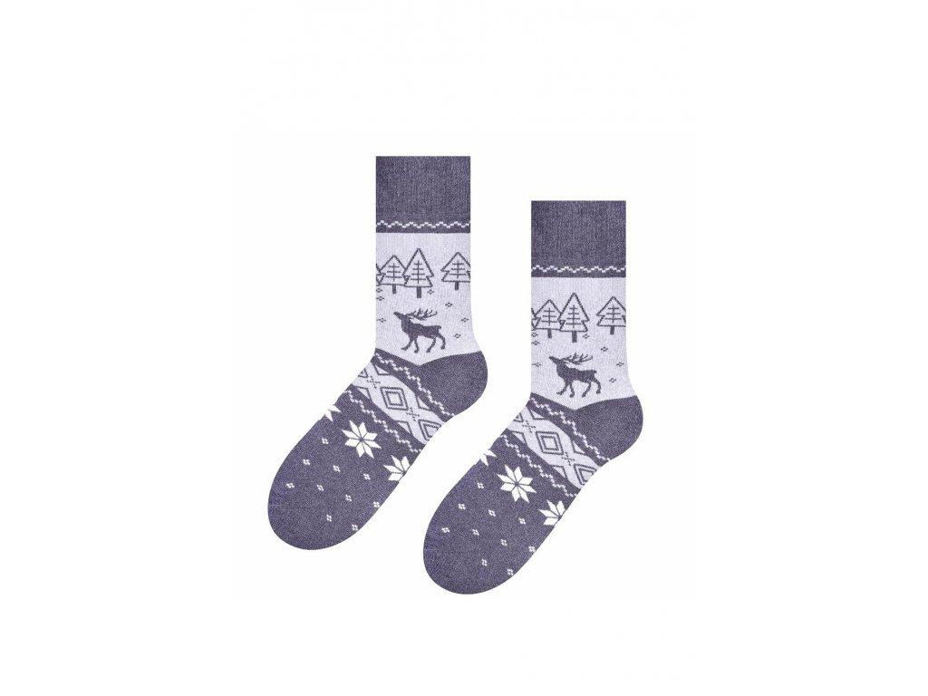 Pánské ponožky Steven (Barva Šedá, Velikost 41-43)