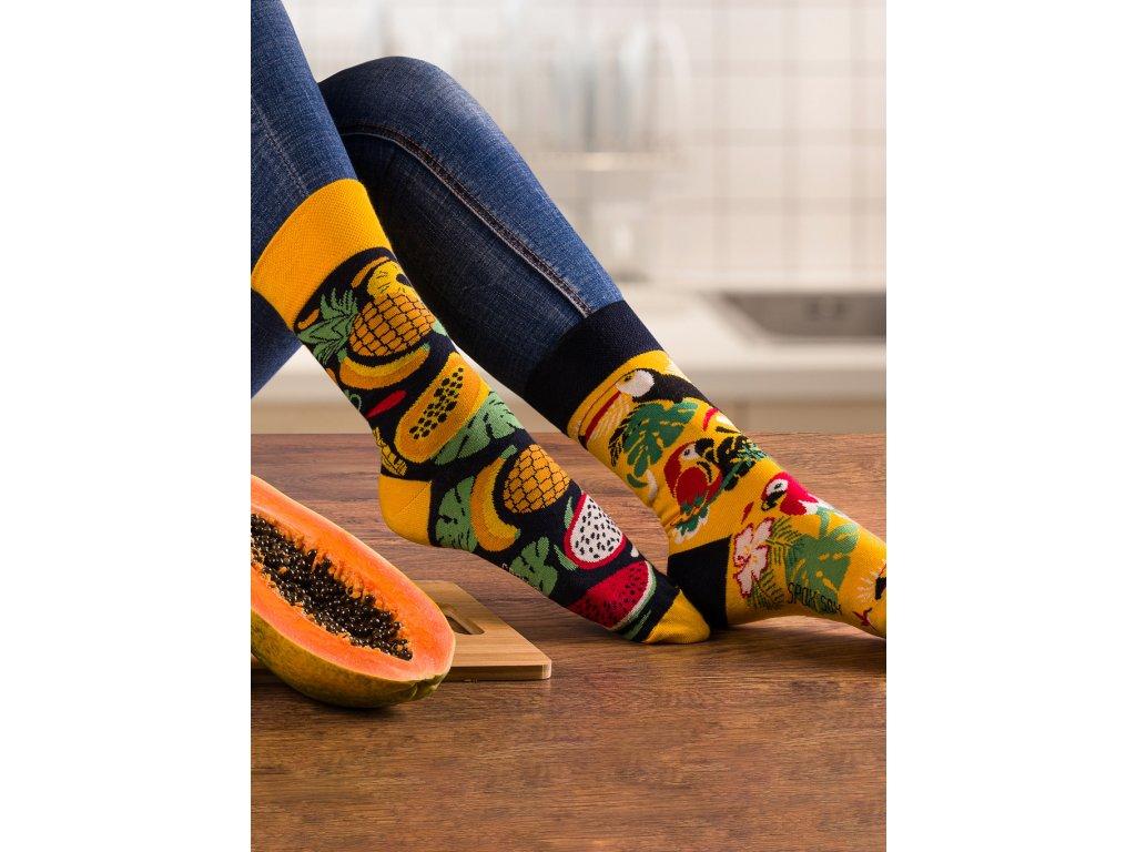 Ponožky TROPICKÉ Spox Sox (Barva Žlutá, Velikost 44-46)