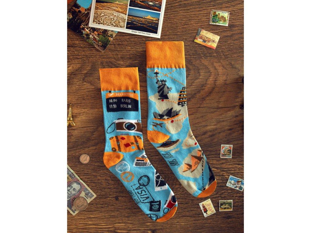 Ponožky CESTOVATEL Spox Sox (Barva Modrá, Velikost 40-43)
