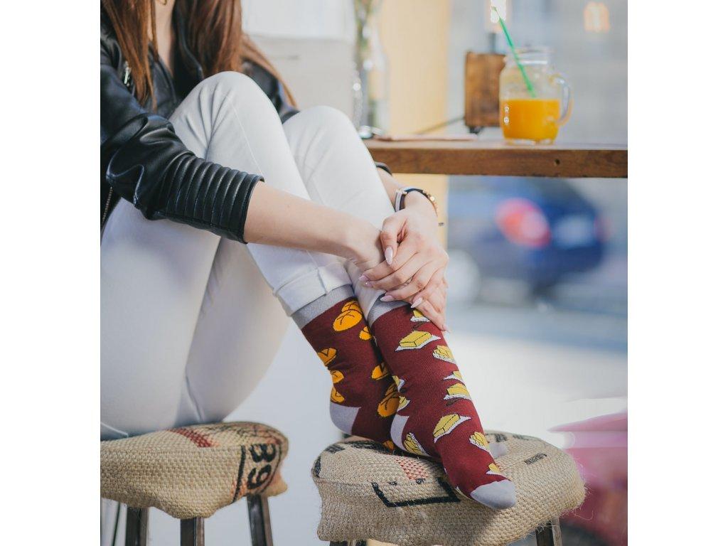 Ponožky HOUSKA S MÁSLEM Spox Sox (Barva Červená, Velikost 36-39)