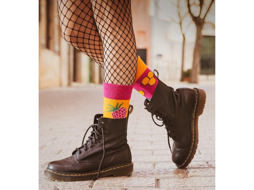 Ponožky MED A MALINY Spox Sox
