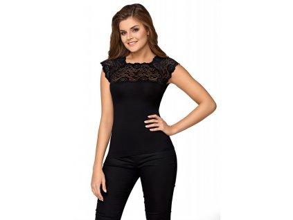 Dámské tričko Elina (Barva Černá, Velikost L)