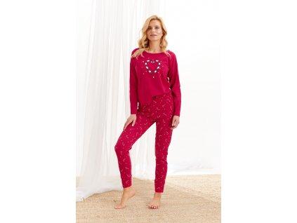 Dámské pyžamo Taro Oliwia (Barva Červená, Velikost S)