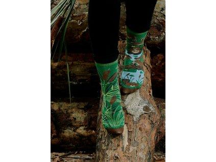 Ponožky BOBR Spox Sox (Barva Zelená, Velikost 44-46)