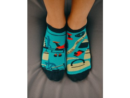 Kotníkové ponožky FITNES Spox Sox (Barva Modrá, Velikost 36-39)