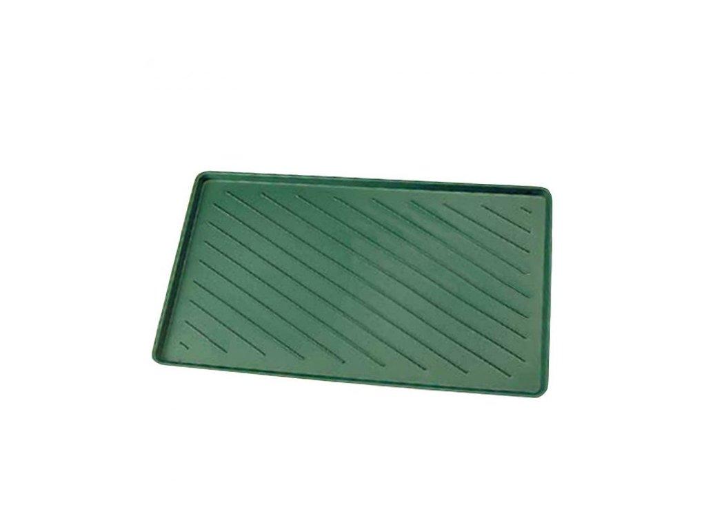 Podložka odstavná plastová na boty (Barva zelená, Rozměr cm 61 x 36, Výška mm 15)