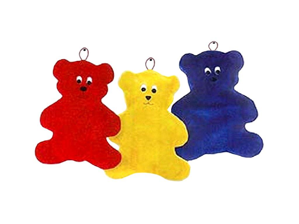 Termofor gumový  0,8 litrů, v obalu medvídka (Barva žlutá)